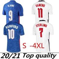 XXXL 4XL 2020 축구 유니폼 2021 Rashford Gerrald Lampard Kane Dele Sterling Home Away Jersey 20 21 축구 셔츠 태국 품질
