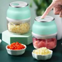 2020 Nuovo Mini Cucina Aglio Artifatto Aglio Elettrico Senza Fili Elettrico Grinder Carne elettrica Grinder Grinder For Grinder per frutta dado Cibo verdure