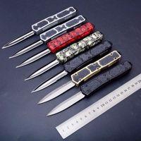 Mict 칼 개미 24 모델 더블 액션 액션 D / E 블레이드 헌팅 접이식 자동 자동 칼 생존 나이프 Xmas 선물 남성용 포켓 도구