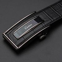 Cintos de couro ciartuar cinto de fivela automática para homens genuíno cintura de couro homens cinto de desenhista de luxo de alta qualidade cinta de moda j1209