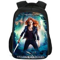 Clary Fraw Backpack Shadowhunters Daypack Katherine Mcnamara Schoolbag الترفيه طباعة Rucksack الرياضة حقيبة مدرسية في الهواء الطلق