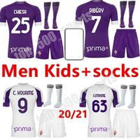 20 21 성인 키트 Fiorentina 축구 유니폼 Simeone 9 리브 7 사용자 정의 플로렌스 축구 셔츠 남자 키트 키트 청소년 캐미사스 드 Futebol 셔츠