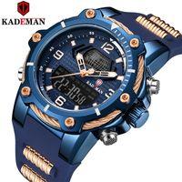 Kademan warterproof sile sile mens relógios top marca relógio de luxo macho negócios quartzo relógio homens relogio masculino