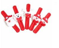 Bären Elch Santa Claus Pailletten LED leuchtender Schneemann Slap Armband Armreif Weihnachtsdekoration Pat Kreis Hand Ringe Weihnachtsgeschenk