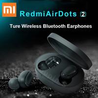 Xiaomi Redmi Airdots 2 Bluetooth 5.0 سماعة لاسلكية مع صندوق شحن 4.1 جرام اتصال سريع يدوي في الأذن سماعة ل iOS الروبوت
