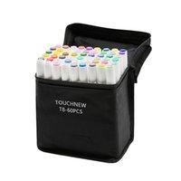 TouchNew T8 Álcool Caneta de Álcool com Dupla Dica Esboçante Art Marcadores Definir caneta redonda para crianças adultos colorir pintura 201212