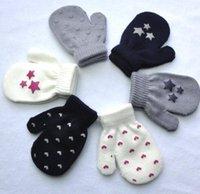 Nouveaux enfants Gants Winter Children Chaud Children Attraper des mitaines bébé offset mignon doigts gants pour garçon 0-4T gants de bébé DB250