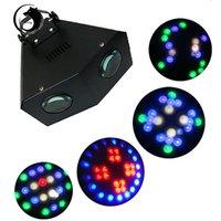 U`king zq-b32 128 grânulos 16 tipos de padrão autopropelled dmx512 LED fase luz preta