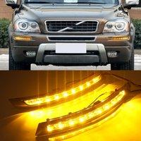 2 pcs DRL Daylight Daytime Driving Lights Transformar Luz de Nevoeiro Luz de Sinal para Volvo XC90 2007 - 2013