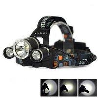 헤드 램프 1PC 헤드 라이트 3 * 10W T6 3800LM 크리어 LED 헤드 램프 자전거 헤드 라이트 도매 야외 캠프 램프 + EU / 미국 / 영국 플러그 충전기