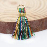 30 stücke 2,5 cm Metall Ring Goldgewinde Mini Quasten Fransen Anhänger DIY Material Schmuck Ohrring Vorhang Dekor Smooth Quassel Trim H Jllkhd
