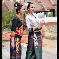 Thailandia Laos Myanmar tradizionale Dai Costume Costume da donna Abiti da donna Conservancy Festival Vita Dress Festival Costumes1