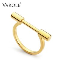 VAROLE Contracted cylindrical Ring Gold Color Rings For Women Accessories Finger Fashion Jewelry Gifts Anillos