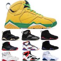 Jumpman 7 7S Bordeaux Basketball Chaussures Hommes Femmes Sweater Grand Chine Lièvre Raptors olympique Français Bleu Top Yellow Hommes Baskets Sneakers