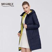 Miegofce Tasarımcısı Yeni Bahar kadın Koleksiyonu Kadın Pamuk Ceket Orta-Uzun Rüzgar Geçirmez Ceket Şık Kadınlar Sıcak Ceket 201027