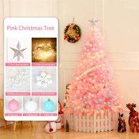 120cm Rosa Weihnachtsbaum für Familie Weihnachtsdekoration Urlaub Party Dekoration 8 Stück Set, um String Ball1 zu senden