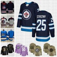 2021 사용자 정의 # 25 Paul Stastny Winnipeg Jets Jerseys Golden Edition Camo Beterans Day 싸움 Cancer Custom Stitched Hockey Jerseys