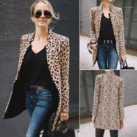2019 primavera autunno autunno moda donna leopardo giacca maglione top caldo casual vestito lungo cappotto1