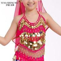 Escenario Wear Girls Bellydance Disfraces orientales Top Sujetadores Niños Buenco Danza Disfraz 2 Estilo Gril Sari Ropa Bollywood para NIÑOS1