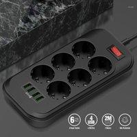 Smart Power Bugs 4 USB Téléphone Chargeur Plusieurs prises 6 UE Sortie Strip pour la maison / Restaurant Charge Téléphone mobile1