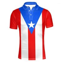 الرجال بولس بويرتو ريكو الشباب diy مجانا مخصص اسم رقم القميص الأمة العلم pr ريكان الإسبانية البلد كلية بو الملابس 1