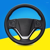 Hand Sewing Car Steering Wheel Cover For CRV 2012- 2021 Inter...