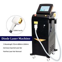 2021 Neue Alam-Laser-Maschine Haarentfernung Laserdiode 15 * 20mm große Fleckgröße Sopran-Titan-Eismaschine Anti-Haarwachstum