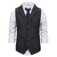 Markyi 2021 мода Slim Fit Witch без рукавов свадьба жилет мужской дизайн однобортный костюм жилет для мужчин