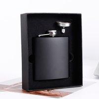 8 ooz Acero inoxidable Pot Cup Funnel Kit Matte Black Hip Frasco Portátil Whisky Champagne Botella Venta caliente 20 8YX G2