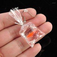 Dangle Chandelier Oppohere Kawaii Orecchini del fumetto Orecchini in resina Goldfish Imitazione Sacco d'acqua Forma Drop Fashion Charms Gioielli1