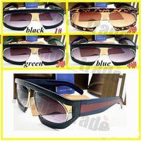 النساء الصيف نظارات نظارات النظارات الذكور نظارات الشمس للمرأة oculos gafas 4 ألوان 10pc الشهيرة تصميم العلامة التجارية الشمسية النظارات الحمراء الأخضر شريط