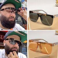 Mostrar gafas de sol Lentes en forma de máscara 2020 Marca Gafas de sol de lujo para hombres y mujeres Muestra Modelos Vidrios de diseñador de moda joven Z1194E