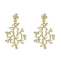 Dangle Chandelier vintage oro colore nero albero foglia foglia forma orecchini per le donne rami di moda orecchino femmina boho gioielli di boho1