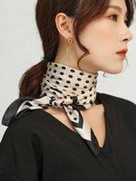 Schals Seide Schals Frauen 70 cm Quadratische Schal Fashion Hals Schutz Büro Frauen Elegante Stirnband