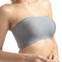 Bustiers الكورسيهات الجليد الحرير المرأة حمالة داخلية سلس ملفوفة العصابة الصدرية أنبوب القمم الصلبة المعدة الصدر أسفل
