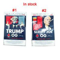 Nuovo Sleepy Joe OG Trump OG Borsa 3.5G BAG BACK MYLAR Lati Sigillato Sacchetto piatto 420 Sacchetti di imballaggio di fiori di erbe secco Borse di imballaggio Edibles Borsa PK Biscotti Runtz Gushers