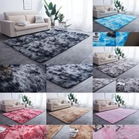 160 * 80 cm Gradient Plüsch Teppiche Wohnzimmer Couchtisch Schlafzimmer Dekorationen Teppiche Home Dekorationen 7 Farbe XD24256