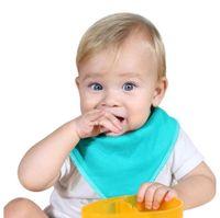 Baby Triangle serviette NOUVEAU-né Mouchoir Muslin Coton Serviette Slobber Serviette Serviette Bibelin Puissardon Pretelles Solide Toile Solide Bouffret Toddler WMQ417