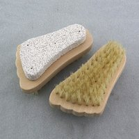 Natural Bristle Brush Foot Brushs Exfoliating Dead Skin Remo...