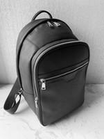 2020 En Kaliteli Sırt Çantası Marka Tasarımcısı Sırt Çantası Erkek Moda Okul Çantaları Lüks Seyahat Çantası, Siyah