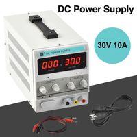 Fonte de alimentação ajustável 30V 10A 110V variável de precisão DC laboratório digital w / clipe