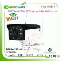 H.265 5MP Human Tracking WiFi Outdoor drahtloser Mini-PTZ-Netzwerk-IP-Kamera, Onvif TF-Kartensteckplatz Zweiwege Audio Sony imx3351