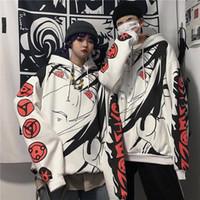 Anime Naruto Hoodies Streetwear 커플 겨울 코트 패션 느슨한 만화 Sasuke 일본 까마귀 스웨터 유니섹스 까마귀 남자 여자
