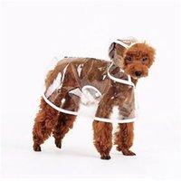 الكلب المعطف تغطية كاملة واضح المعطف الكلب معاطف الملابس الملابس المياه ressistant سترة المطر دعوى الصوف مع هوديي PPC4619