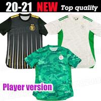 2020 2021 Algerien Mahrez Fussball Trikots Argelia 20 21 Atal Feghouli Slimani Brahimi Home Bennacer Männer Football Shirts Spielerversion