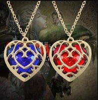 Gioielli di moda La legenda Zelda a forma di cuore collana di cristallo in lega cornice in lega d'oro amore hallow collane 0625
