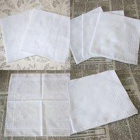 Festa 34cm 100% algodão masculino mesa de cetim lenço towboatboats quadrado lenço branco 34cm homens natal presente EEA470 192 g2