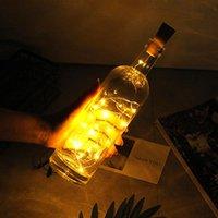 LED Mini Şişe Stoper Lamba Dize Bar Dekorasyon Dize Işık Sıcak Beyaz Işık Dünya Sarı OP dereceli Malzeme LED Dizeleri