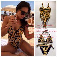 Moda Lüks Tasarımcı Kadınlar Plaj Bir Set Bikini Iç Çamaşırı Mayo Kadınlar Mayo Seksi Mayo Seksi Iki Parçalı Mayolar Y1120