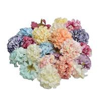 100 قطع الزهور الاصطناعي عيد الميلاد حزب الأزياء الزفاف الحرير الاصطناعي الكوبية رئيس المنزل حلية الديكور لشنتر يوم هدية